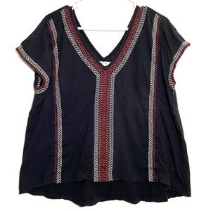 Madewell Southwestern Embroidered Cap Sleeve Top